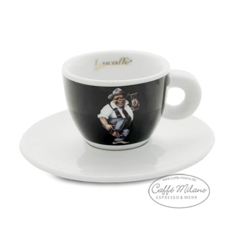 "6 Stück Lucaffe /"" der Pate /"" Espresso Tassen Caffe Milano"