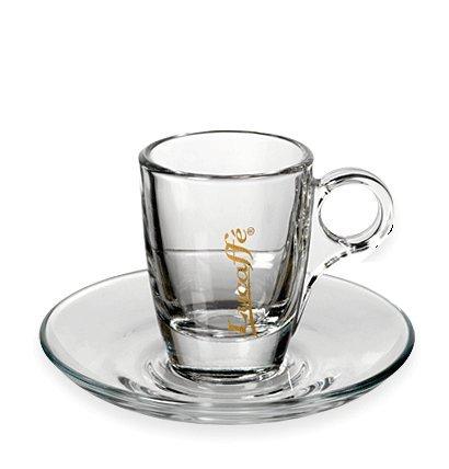 lucaffe espresso tasse glas mit griff caffe milano. Black Bedroom Furniture Sets. Home Design Ideas
