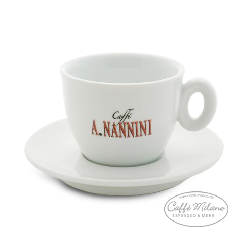 a nannini cappuccino tassen weiss 6 stueck caffe milano. Black Bedroom Furniture Sets. Home Design Ideas