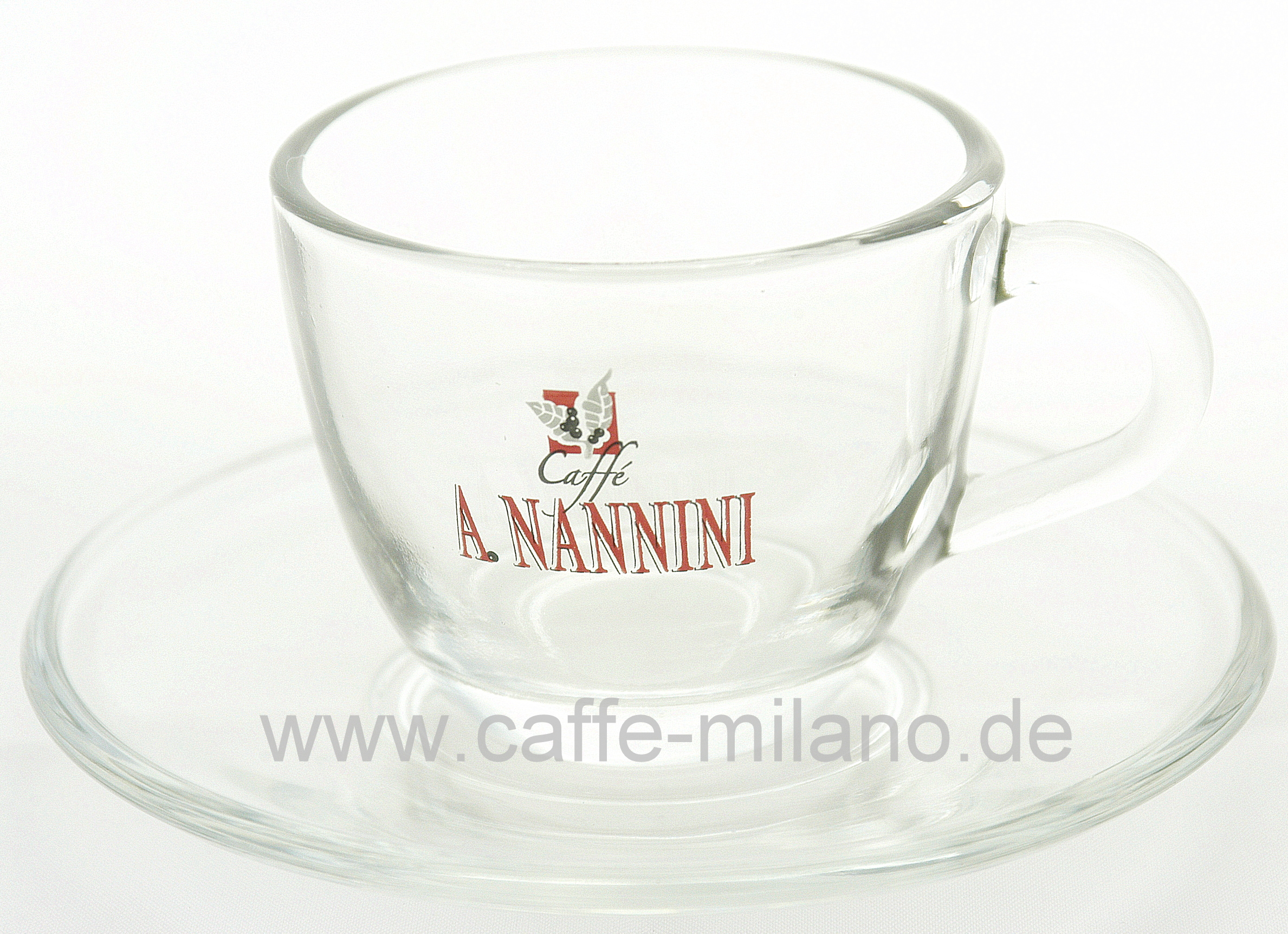 nannini cappuccino kaffee tasse aus glas caffe milano. Black Bedroom Furniture Sets. Home Design Ideas