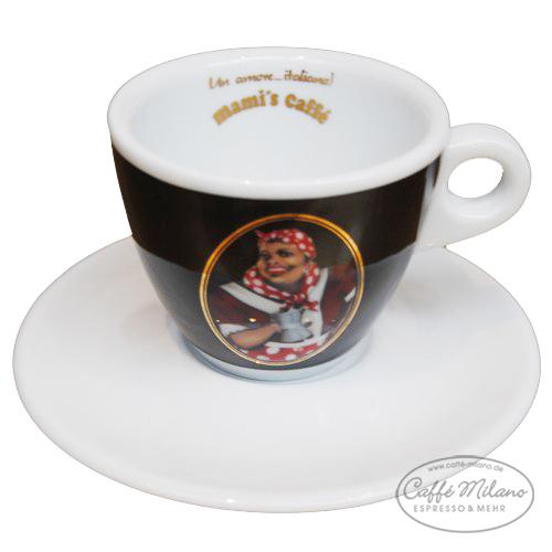 mamis caffe cappuccino tasse gran crema schwarz caffe milano. Black Bedroom Furniture Sets. Home Design Ideas