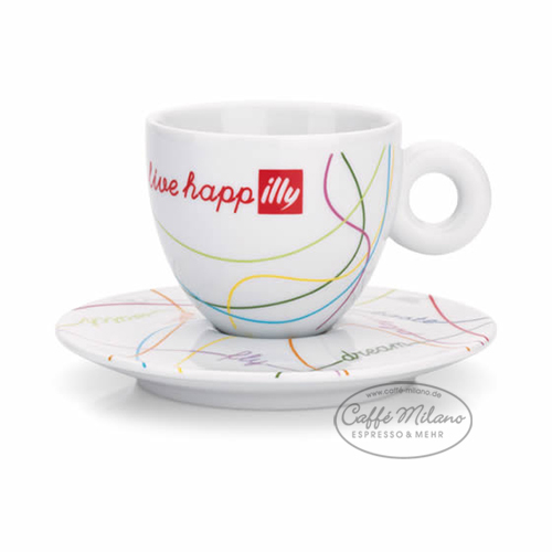 illy cappuccino tassen live happilly 2 tassen set caffe milano. Black Bedroom Furniture Sets. Home Design Ideas