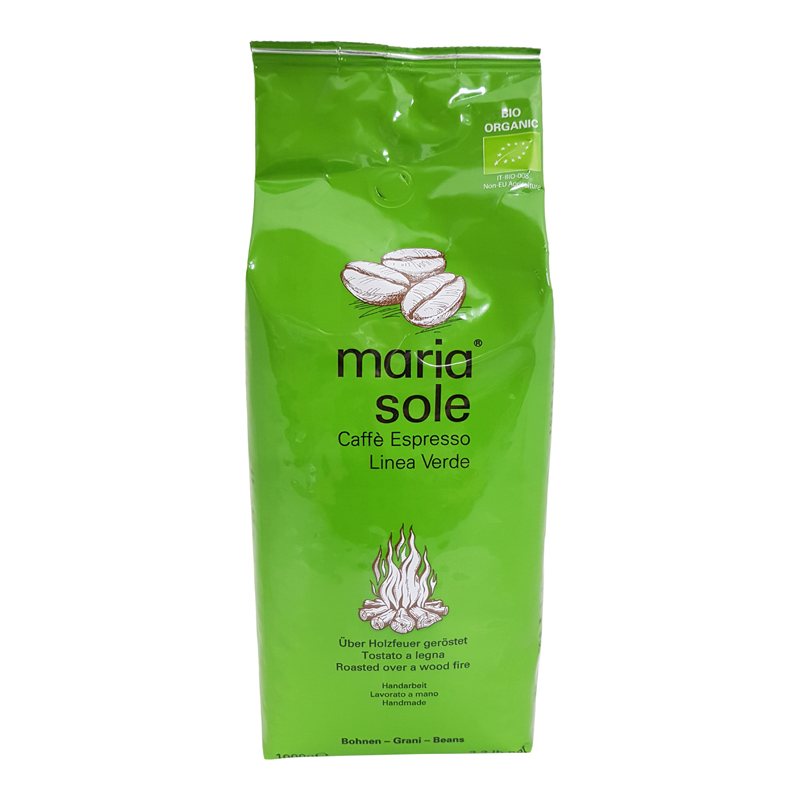 maria sole linea verde bio espresso 1000g bohnen caffe milano. Black Bedroom Furniture Sets. Home Design Ideas
