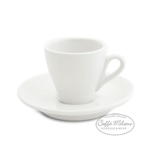 Nuova Point Espresso Tasse weiß mit Unterteller