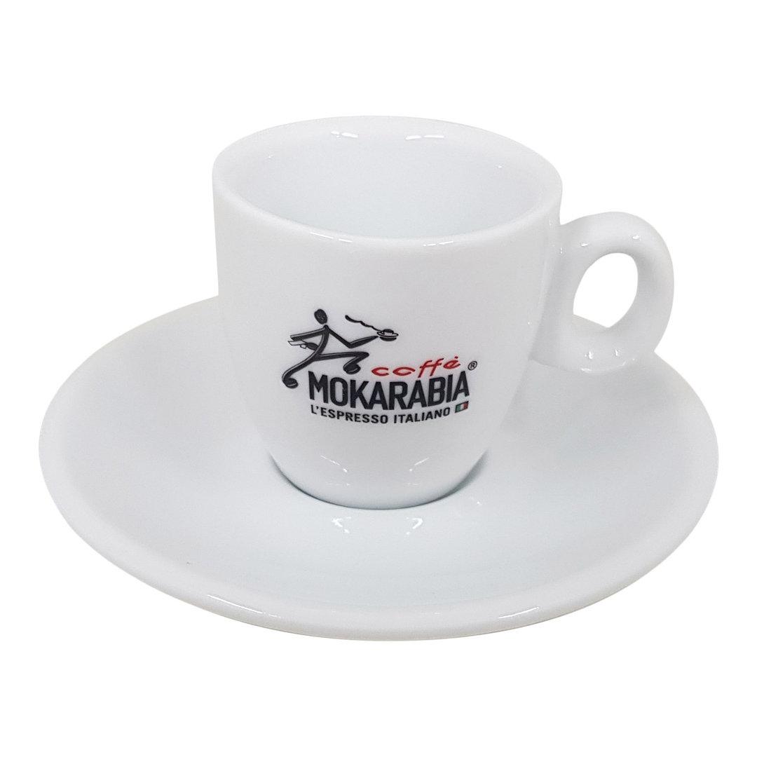Mokarabia Espressotasse mit Unterteller