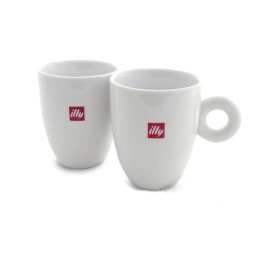 illy Kaffee Becher Mugs 300ml, 2 Stück