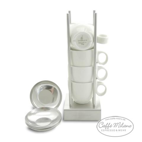 Bauhaus-Manufaktur Bauhaus Espresso Tassen Ständer + 4 illy Tassen