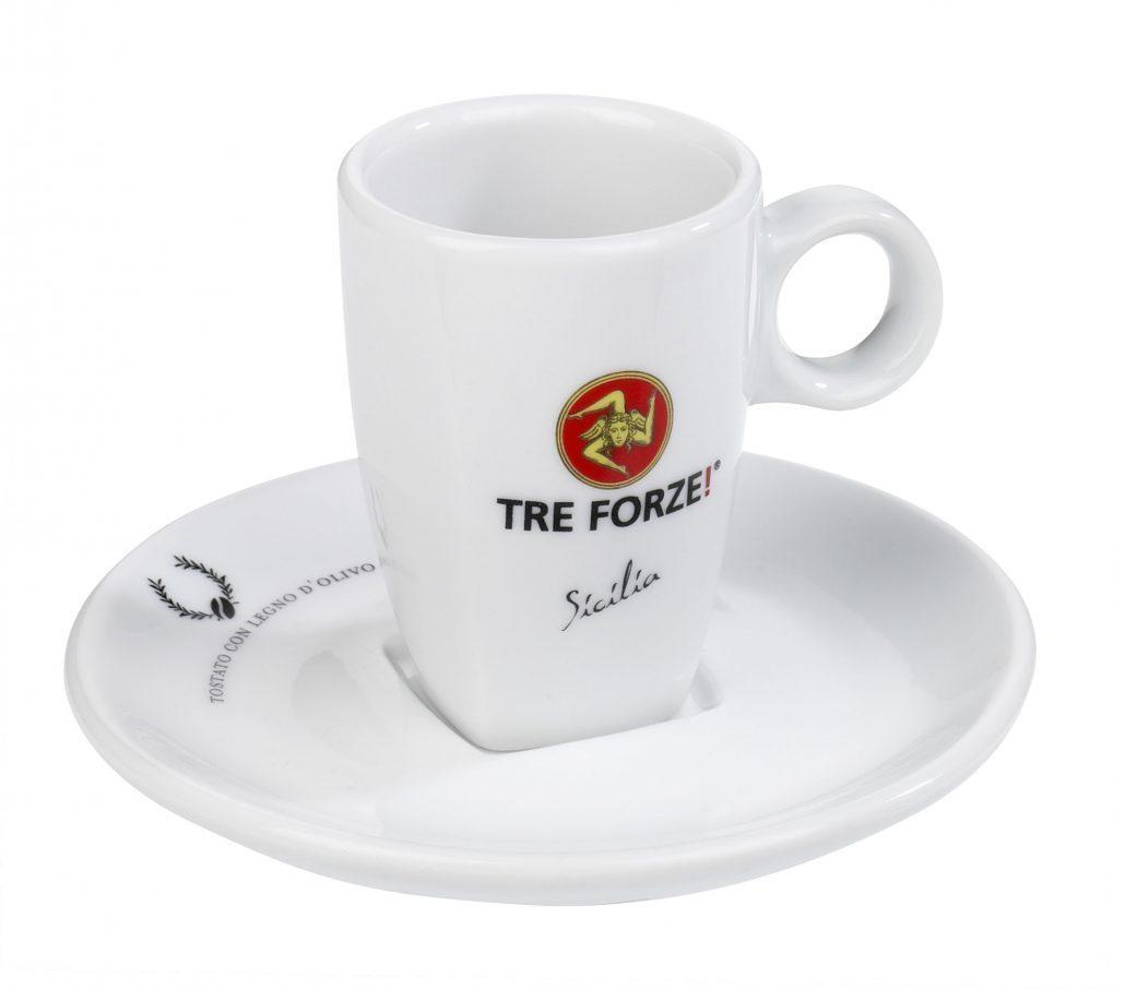 Tre Forze! Espressotasse mit Unterteller