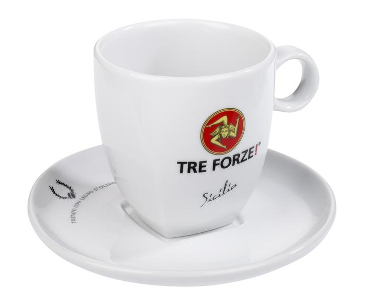 Tre Forze! Caffe Latte, Milch Kaffee Tasse