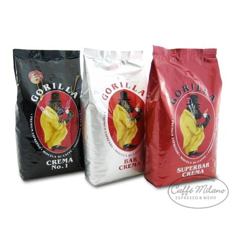 Joerges GORILLA Espresso Probier Paket 3 x 1000g
