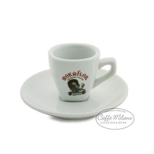 Mokaflor Espresso Tasse mit Unterteller