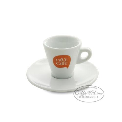 Cave Caffe Espresso Tasse mit Unterteller