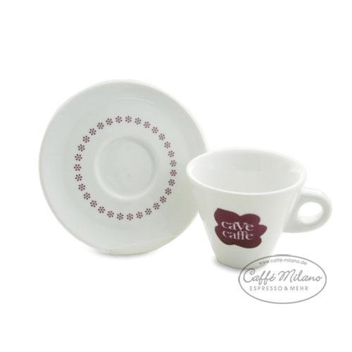 Cave Caffe Cappuccino Tasse mit Unterteller