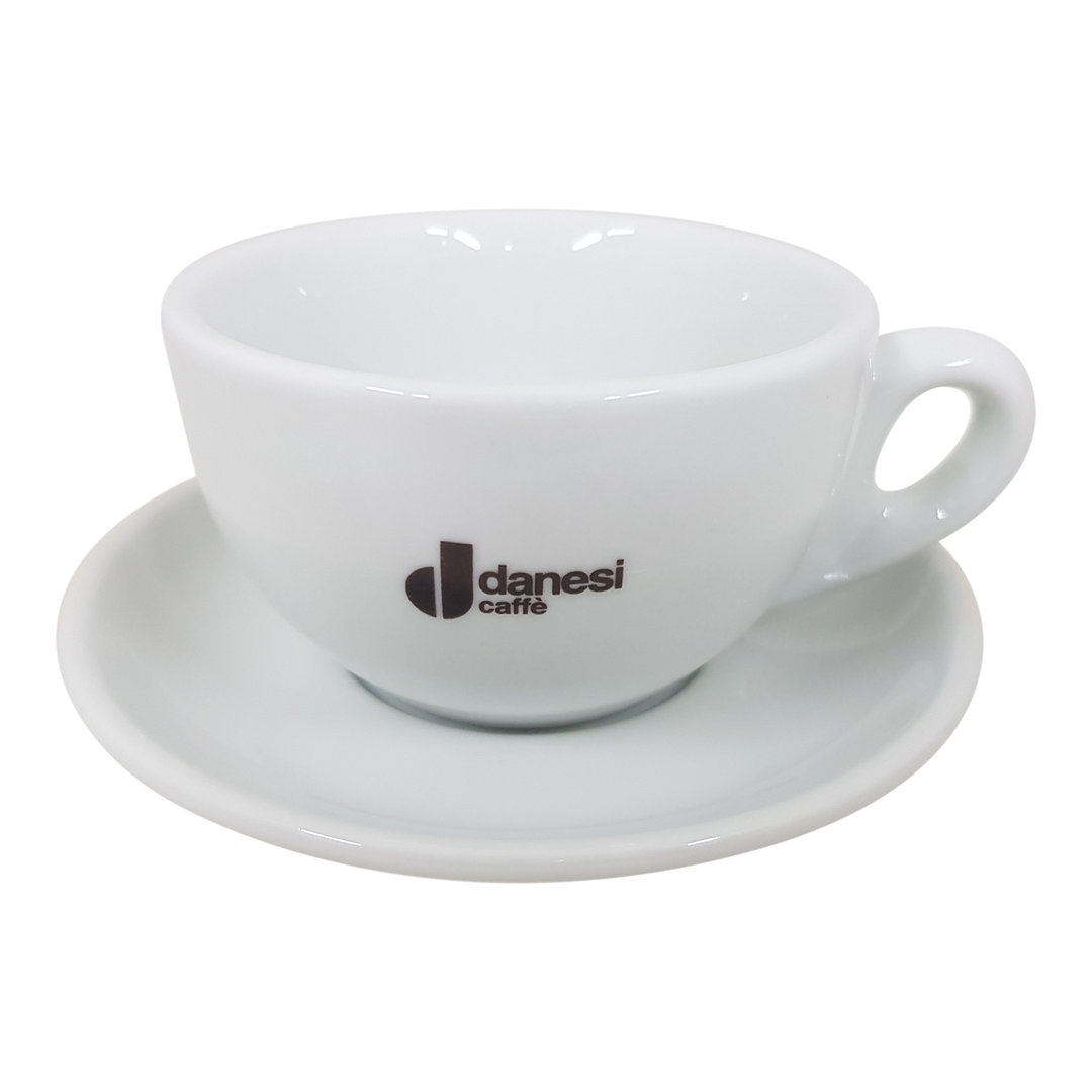 Danesi Milchkaffee Tasse mit Unterteller