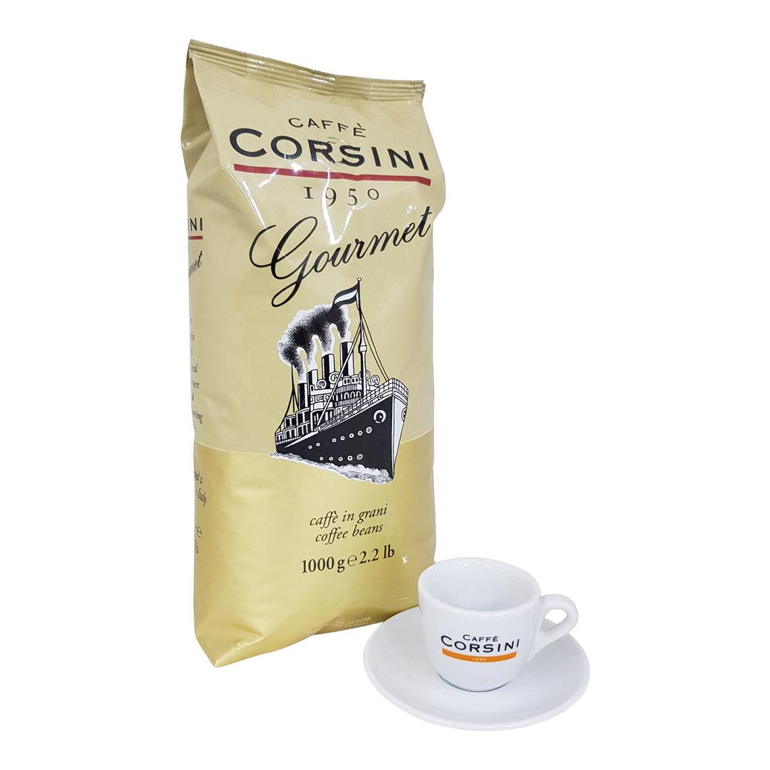 Caffe Corsini Corsini Gourmet Espresso, 1000g. + Espressotasse